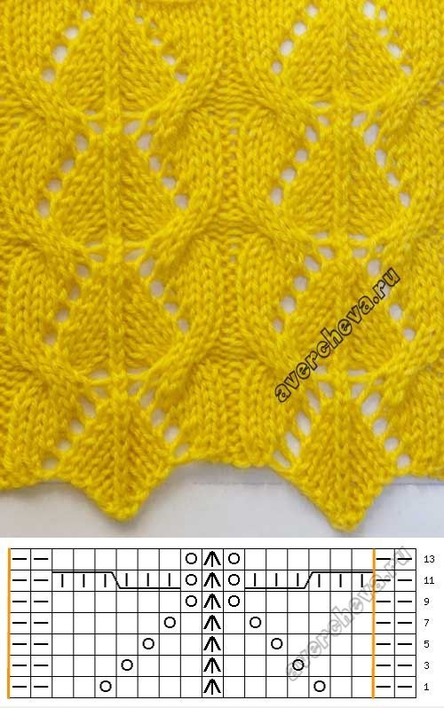 Lace knitting pattern 732