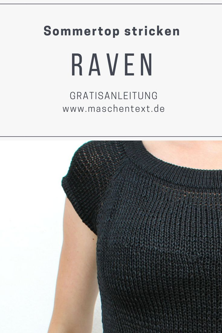Photo of Knitting instructions: summer top RAVEN