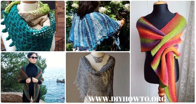 Knit Wrap & Shawl Patterns and Tutorials