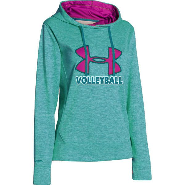 best loved c668b d0173 NEW at All Volleyball! Under Armour Women s Big Logo Twist Hoodie - Teal   59.99