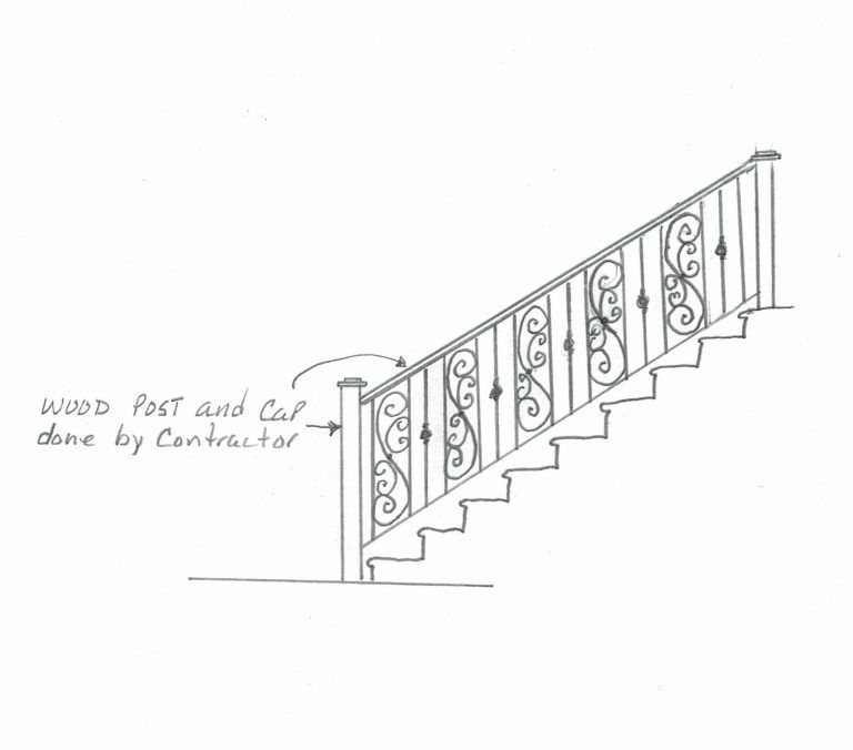 Best A Sketch Of Our Wrought Iron Staircase Design Wrought Iron Staircase Iron Staircase Wrought Iron 640 x 480
