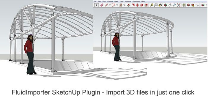 Review Of Fluidimporter Sketchup Plugin Import 3d Files In Just
