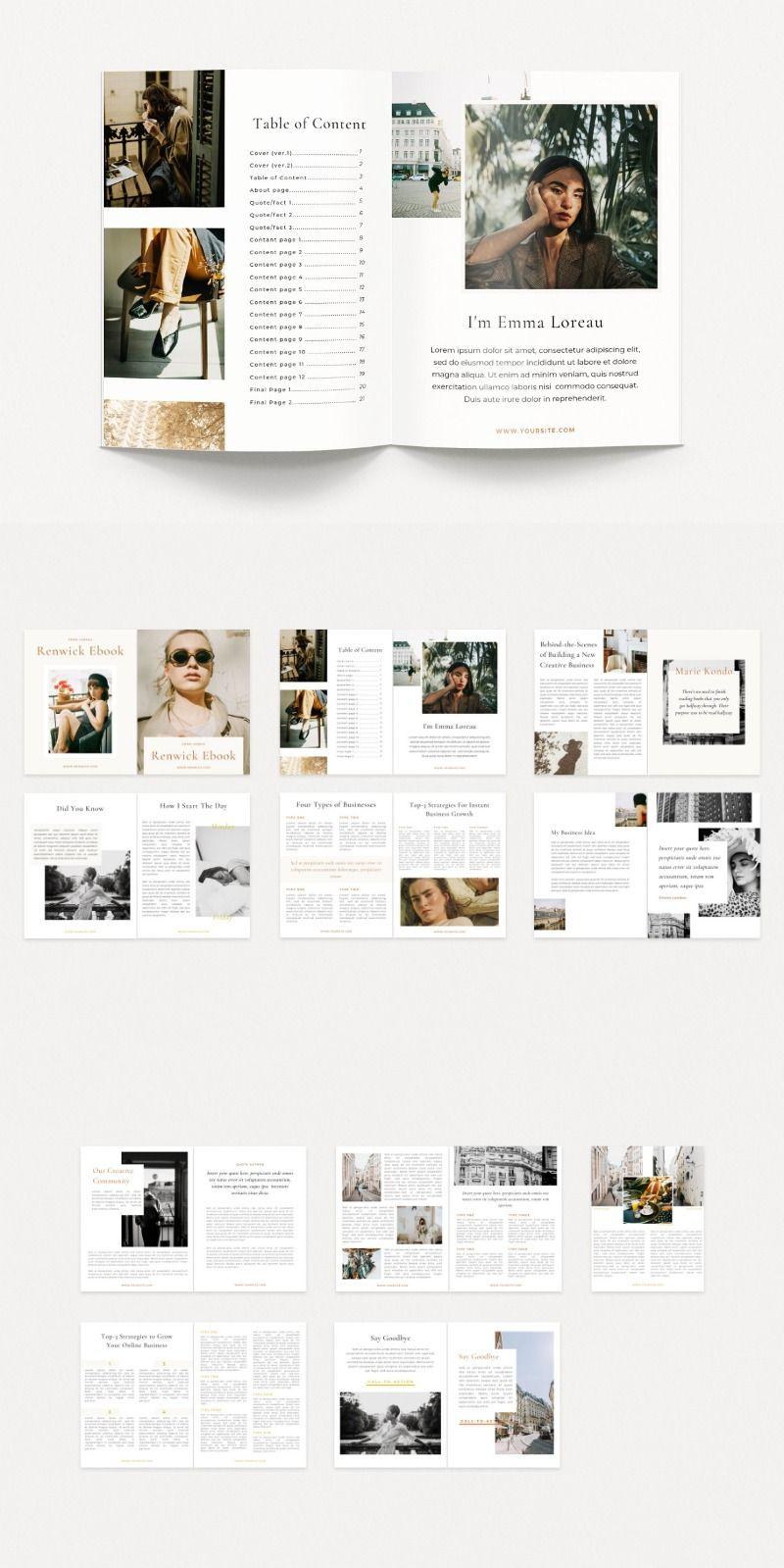 Renwick Ebook Canva Branding Website Design Ebook Template Graphic Design Branding