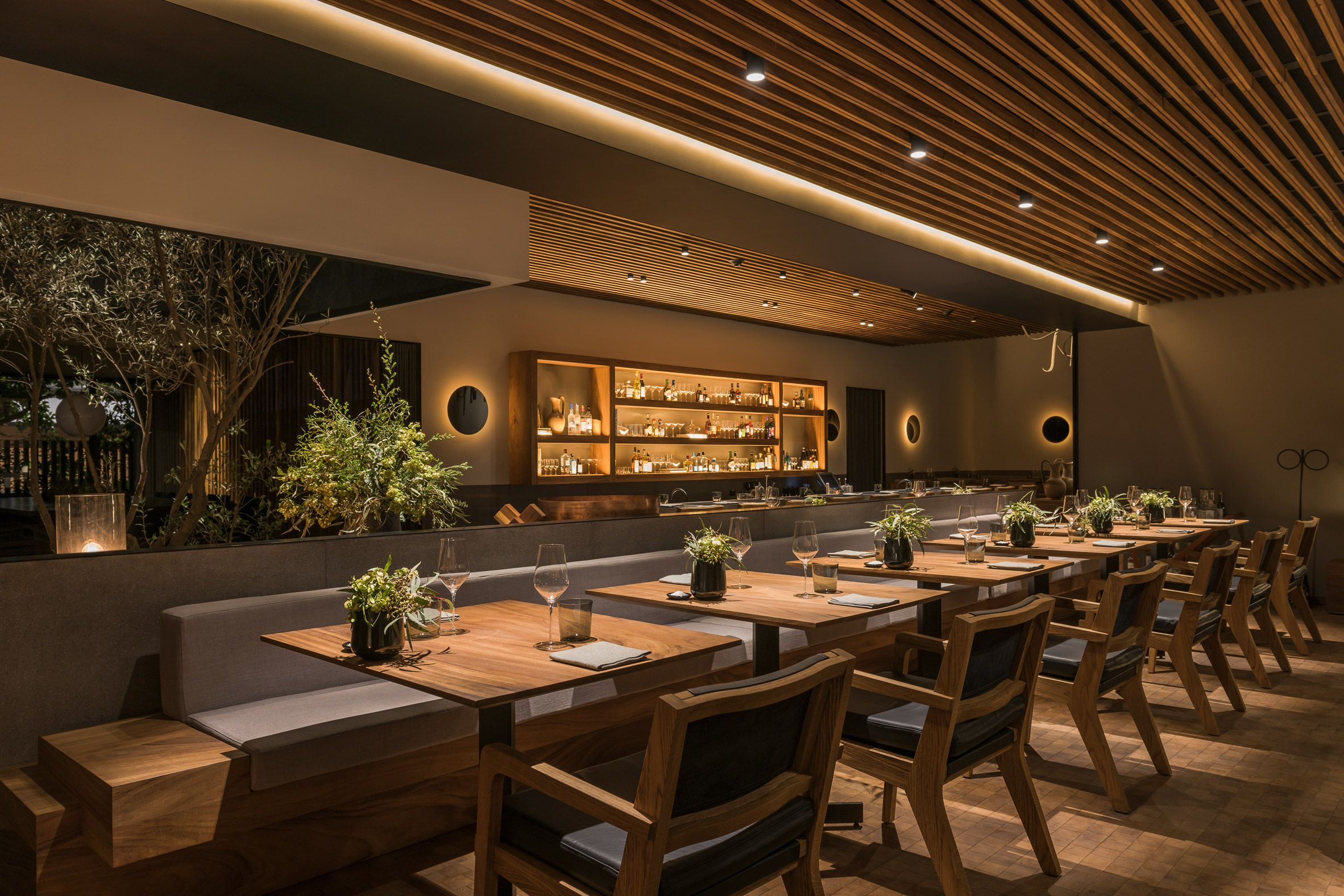 Gardens, Courtyards And Wooden Decks Lend A Domestic Feel To Mexico City  Restaurant Pujol, Which Was Named One Of The Best Places To Eat In The  World.