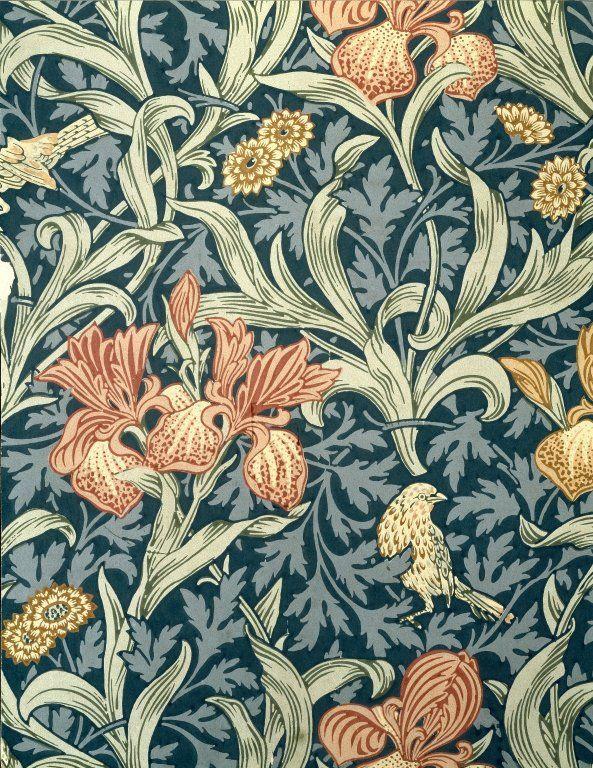 Iris by William Morris. Brooklyn Museum Decorative Arts