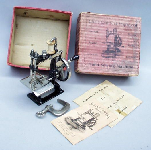 Little Comfort TSM Toy Travel Size ChildSize Antique Sewing Classy Travel Size Sewing Machine