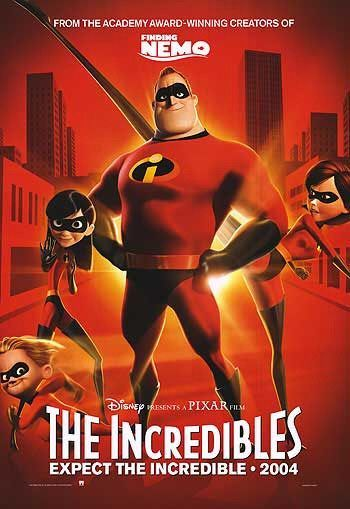 The Incredibles 2004 The Incredibles Disney Movie Posters Animated Movie Posters