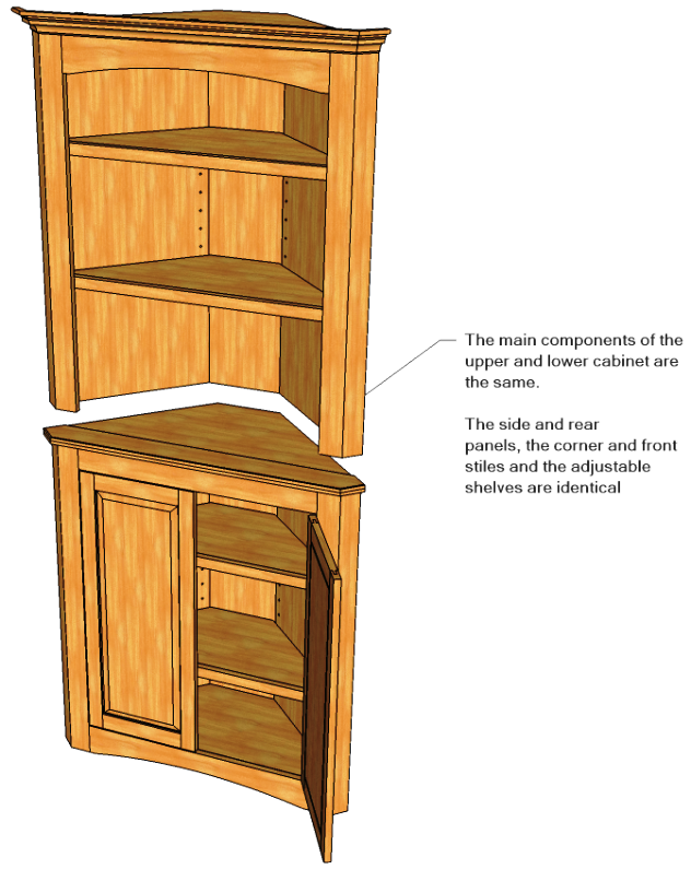 Corner cabinet projects to try pinterest router for Wood hutch plans