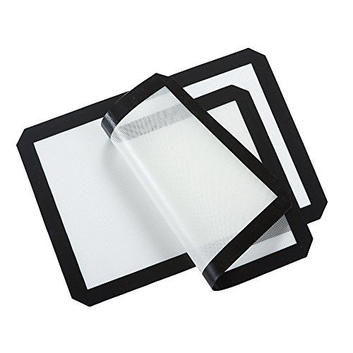 Lifeeasy Non Stick Silicone Baking Mat Black And White Pack Of 2