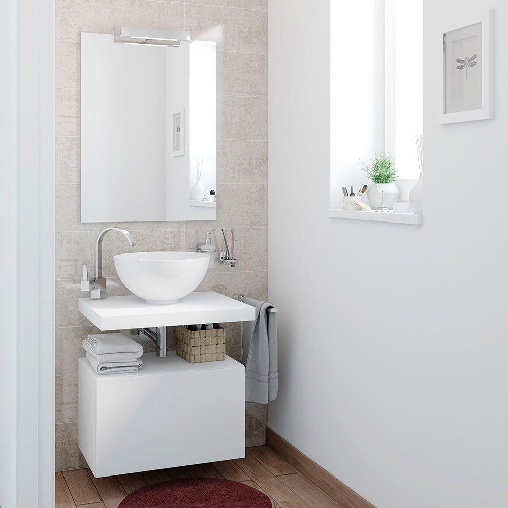 Mueble De Lavabo De Encimera Fabricado En Melamina Y Acabado En