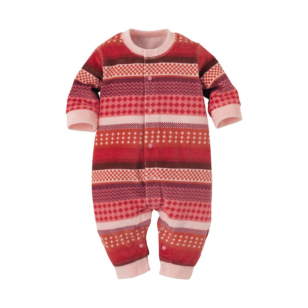 a953c6d8c81 UNIQLO BABY(NEWBORN) VELOUR ONE PIECE OUTFIT LONG SLEEVE 1P
