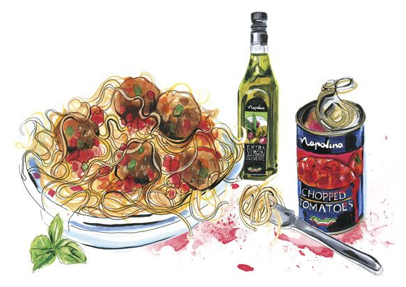 meatballs illustrated by Andrea Turvey 583 x 413