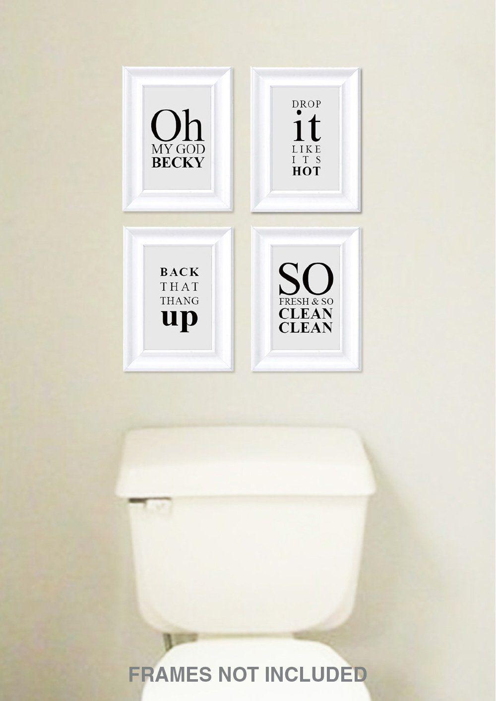 Funny Sayings Bathroom Wall Art Decor Photo Rap Song Lyric Quotes Decoration Signs Bathroom Wall Decor Art Bathroom Wall Decor Diy Bathroom Wall Art Printables