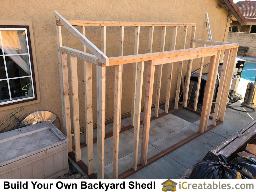 Framing The Shed Walls And Starting On The Roof Rafters Easy Shed Plans Wood Shed Plans Diy Shed Plans Backyard Sheds