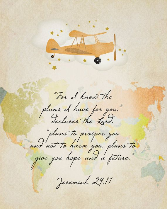 Map Art Jeremiah 29 11 8x10 Inches Scripture Printable Instant Download