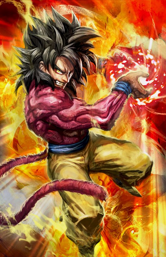 Super saiyan 4 goku by on - Dbz fantasy anime ...