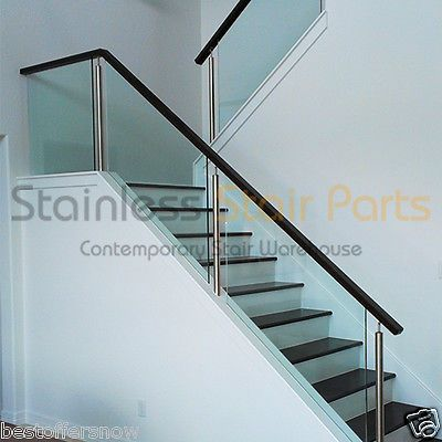 Elegant Stainless Steel Stair Parts Modern Glass   Rods U0026 Cable Railing Systems