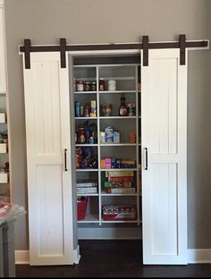All Sliding Barn Doors Are Custom Made To Your Dimensions We Do Not Keep Any Size Doors In Stock All You Do Is Provide Barn Door Pantry Home Barn Door Closet