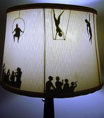 silhouette lamp shade