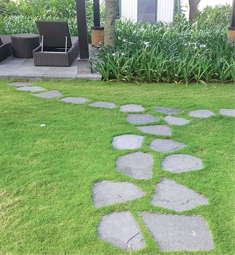 Lawn Stepping Stones Stone Slip Resistant Pathway Ideas Diy Backyard Landscaping Stepping Stone Pathway Garden Stepping Stones