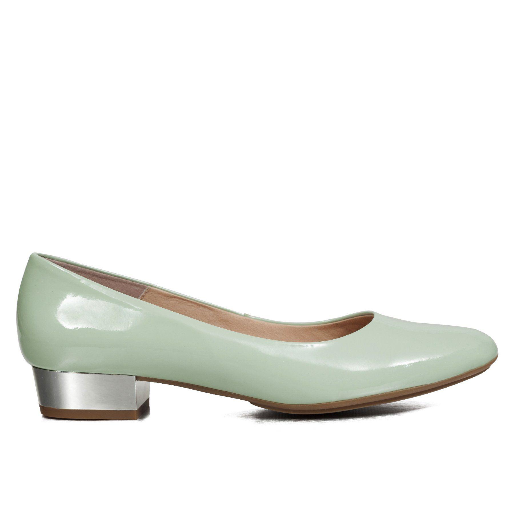 988bf5e8 Zapato tacón bajo charol mujer VERDES AGUA – miMaO Spain Tienda Online – miMaO  ShopOnline