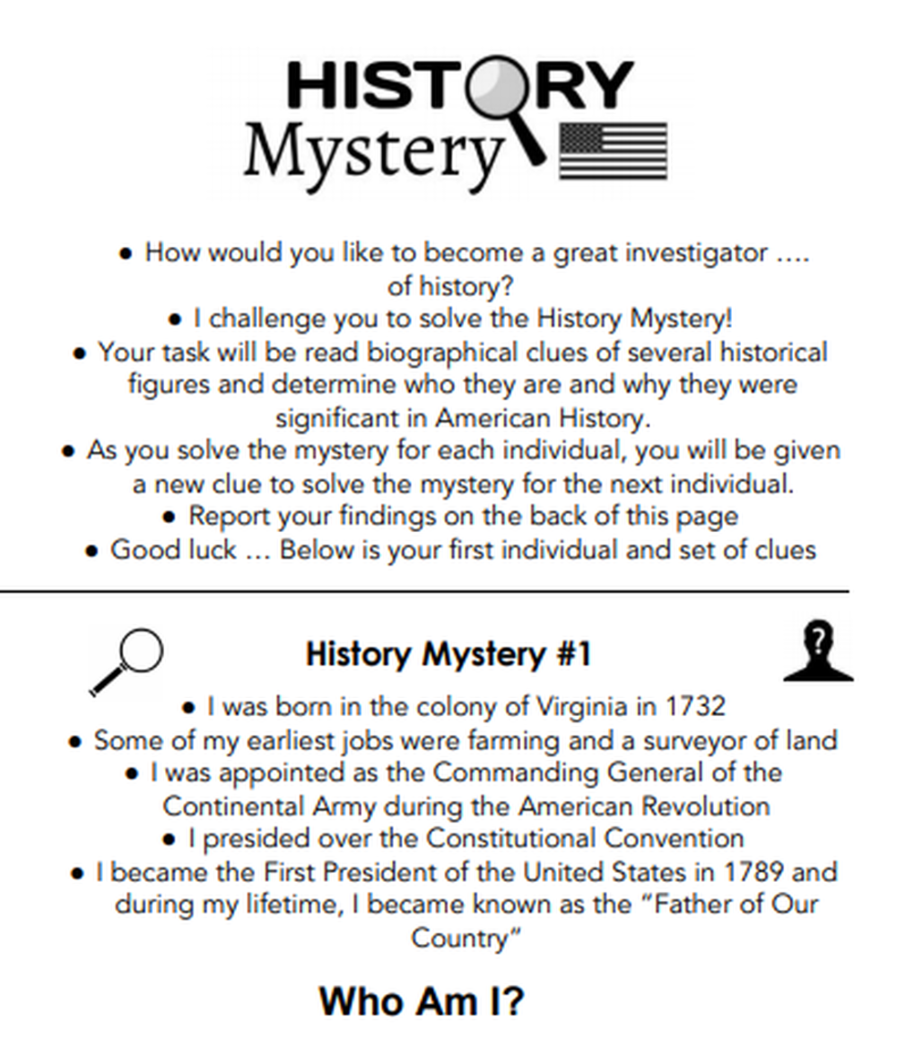 small resolution of History Mystery - 8th Grade Social Studies STAAR Scavenger Hunt   Social  studies
