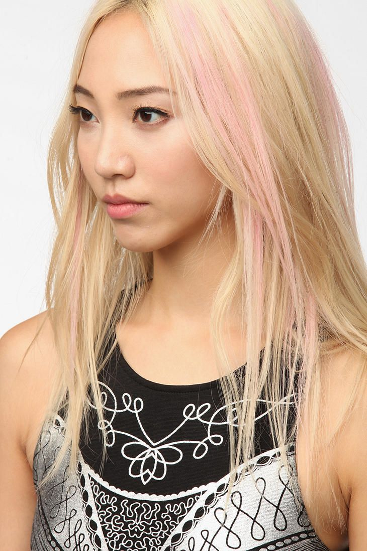 Asian with blonde hair and pink streaks  Styles I like  Pinterest