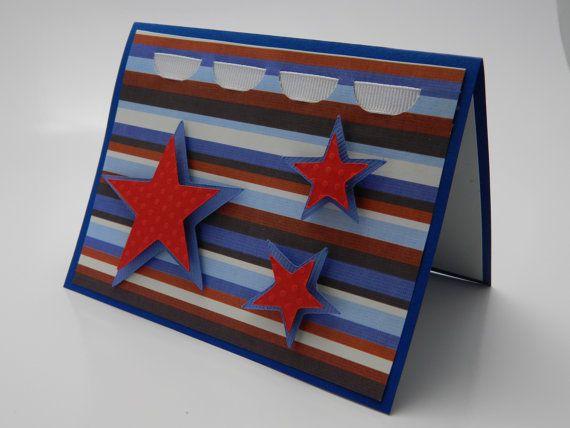 Stars And Stripes Patriotic Birthday Greeting Card