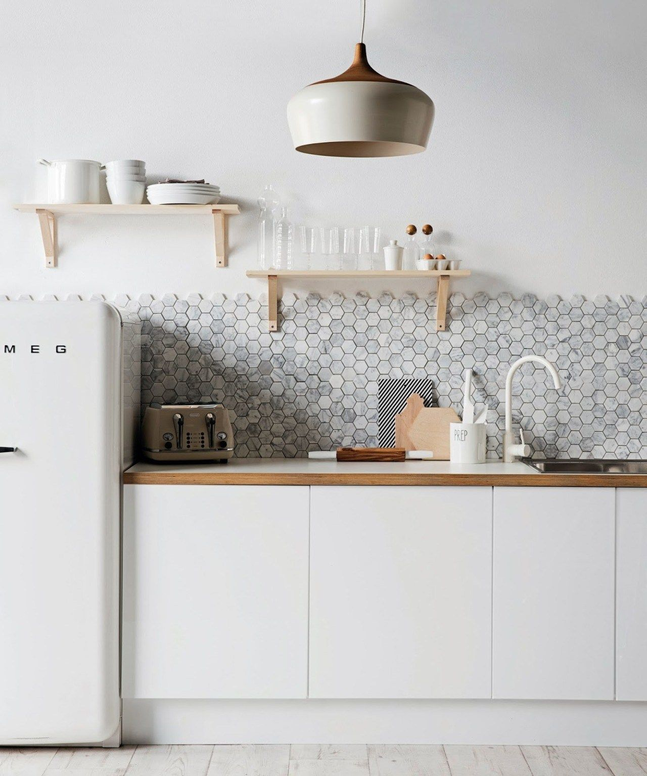 Hexcellent jump on the hexagon decor trend kitchens kitchen
