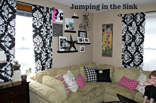 """Eclectic Decorating with a Capitol """"E""""   Jumping in the Sink"""