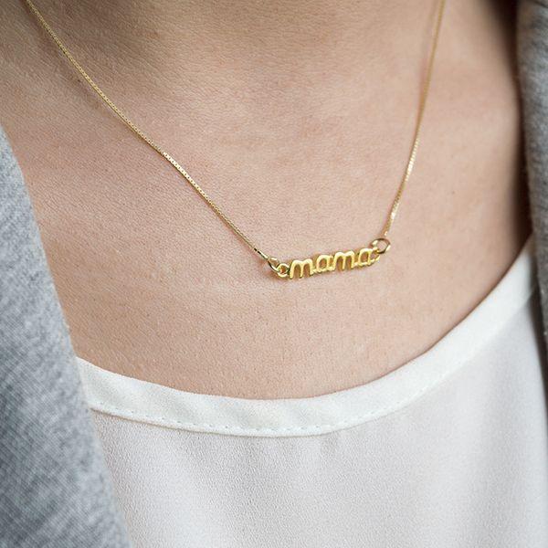 Collar oro mama