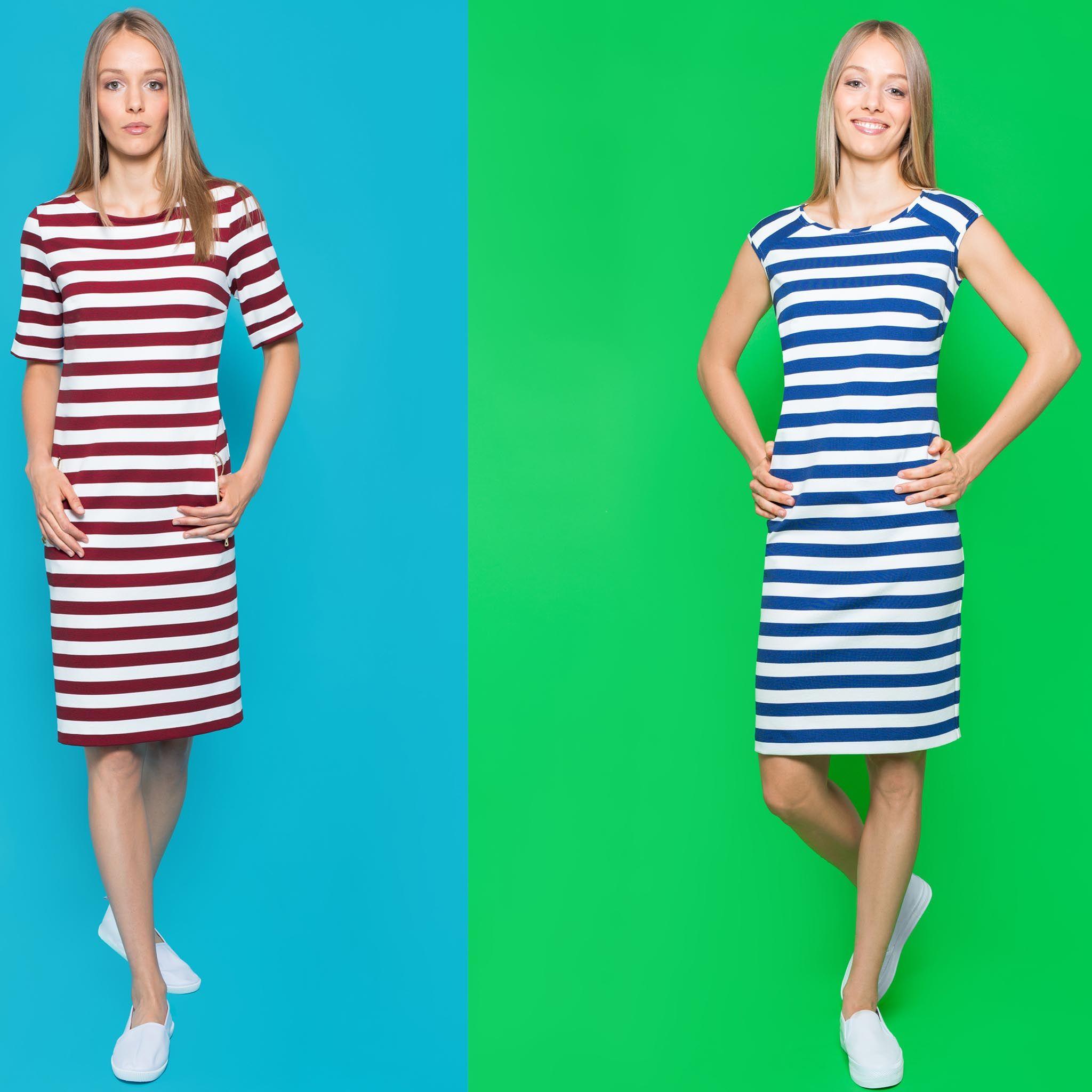 striped dresses at vabene | gestreiftes kleid, kleid mit ärmel