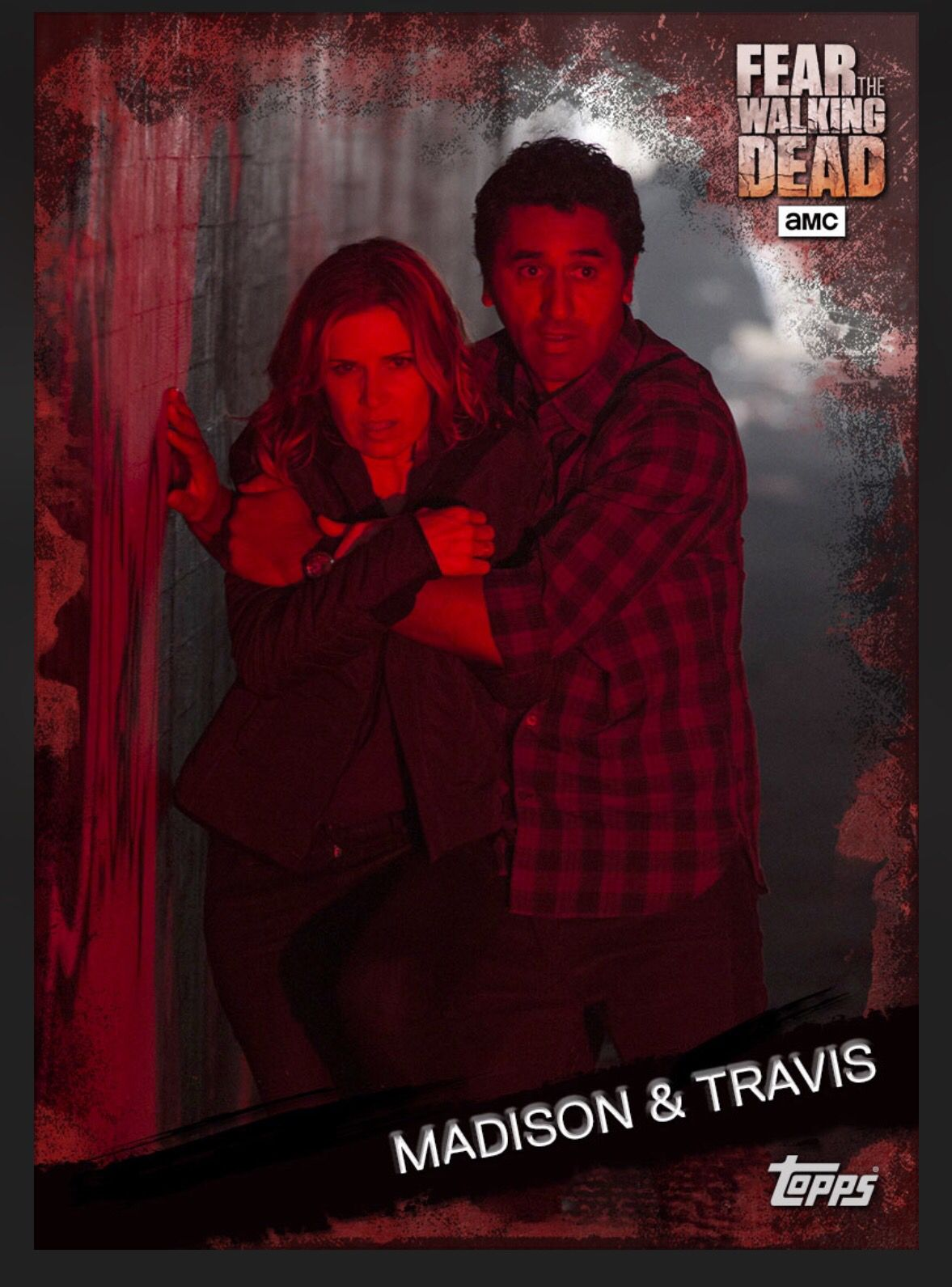 FEAR 302 RED+BLUE SET-12 CARDS-TOPPS FEAR THE WALKING DEAD CARD TRADER