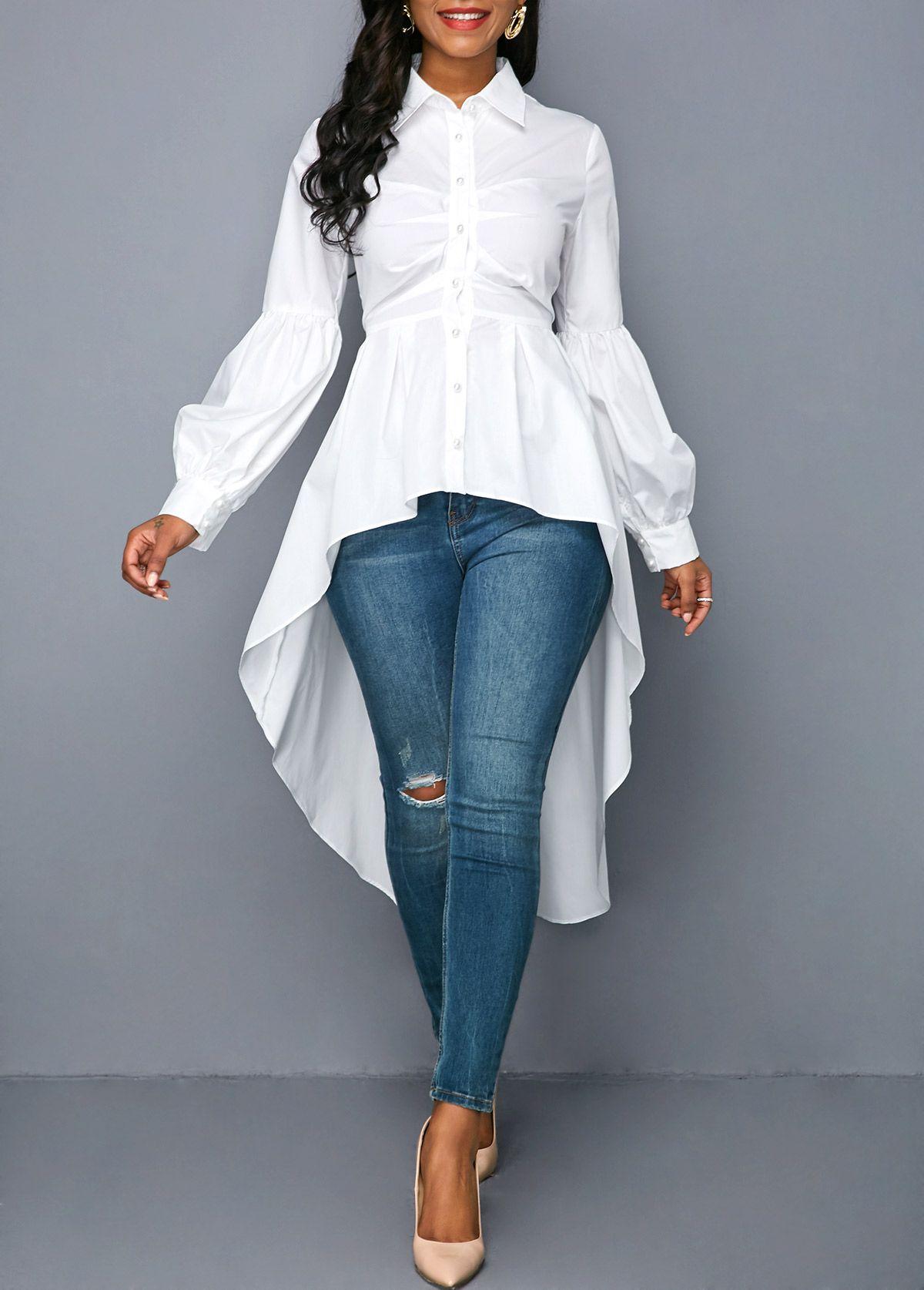 Pin on White blouse