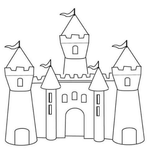 Coloriage Chateau De Chambord.Castelo Chateau Castle Coloring Page Coloring Pages Et Disney