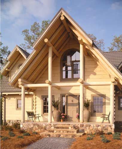 3 Bedroom Traditional Style House Plan 8497 Rosemary Park Log Homes Log Home Plan House Plans
