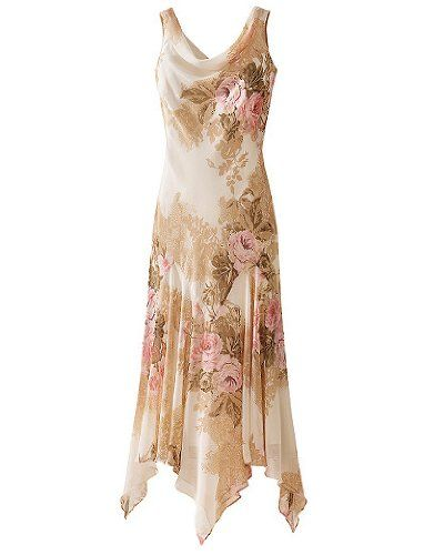 Tropical Mother Of The Bride Dresses Beaded Handkerchief