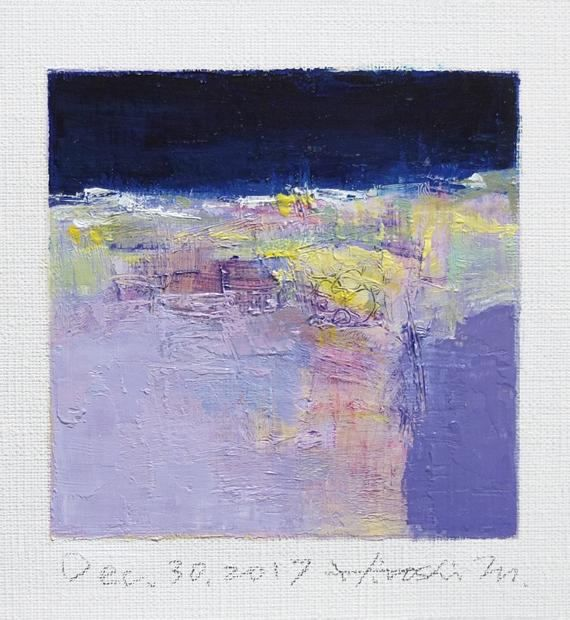 Dec. 30 2017 Original Abstract Oil Painting 9x9 painting