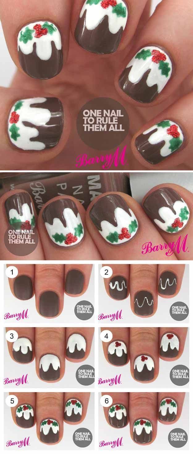 Christmas Nail Art Designs - Christmas Pudding -Looking For Easy ...