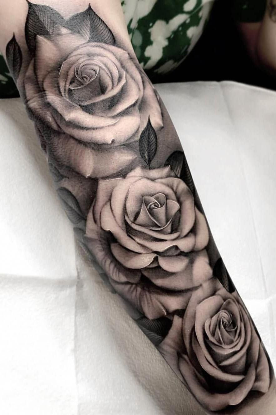 Tatu Tatuajemangabrazoella Rose Tattoo Forearm Rose Tattoo Sleeve Half Sleeve Tattoos Forearm