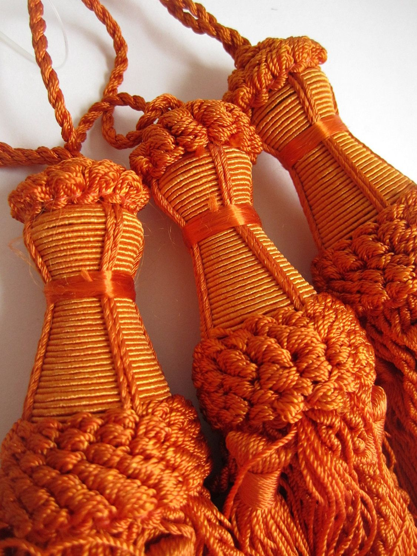 Orange Curtain Tassels Indian Home Decor Curtain