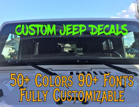 Custom Jeep Name Stickers