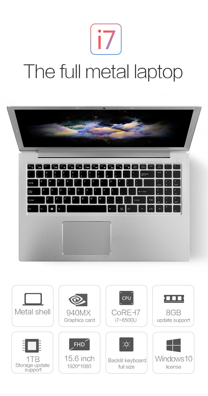 Voyo I7 Notebook Computador Portatil Win 10 1 15 6 Polegadas Intel