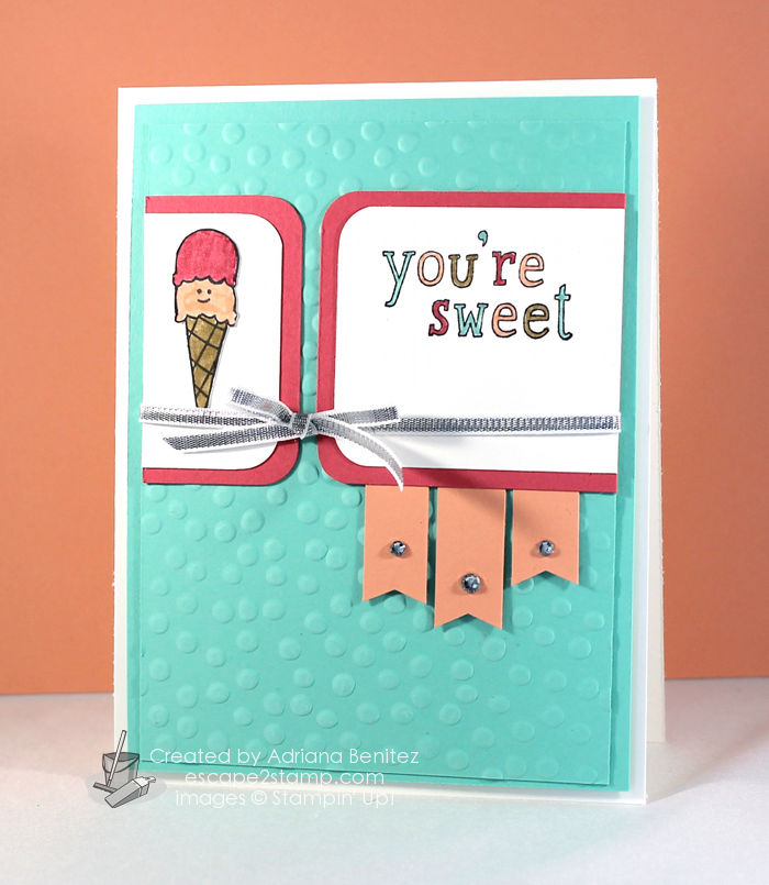Escape2stamp: Stampin' Up! Sweet Stuff, thank you, child, greeting card