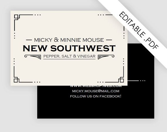 Art deco business card printable pdf by customtemplatestudio art deco business card printable pdf by customtemplatestudio flashek Images