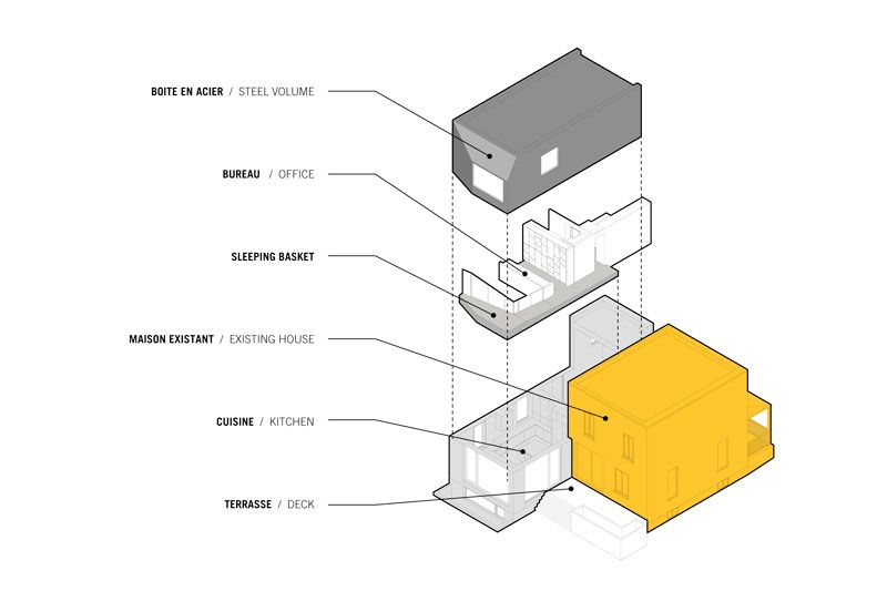 Dulwich Residence by _naturehumaine - Exploded Axonometric