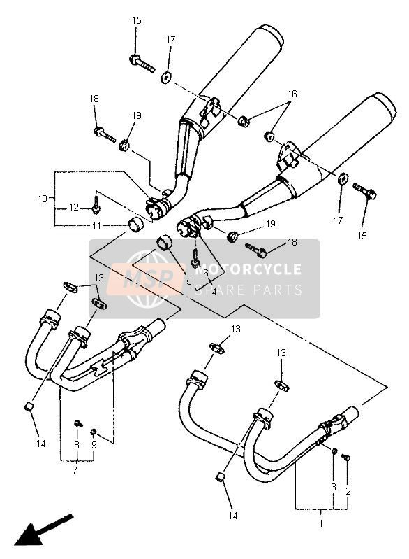 Exhaust For 1998 Yamaha Xj600s Diversion