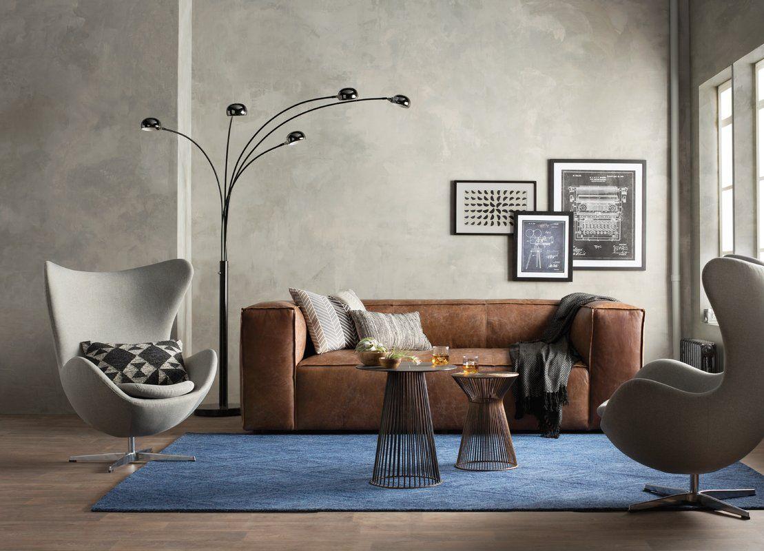 Annessia Leather Sofa Coastal Living Rooms