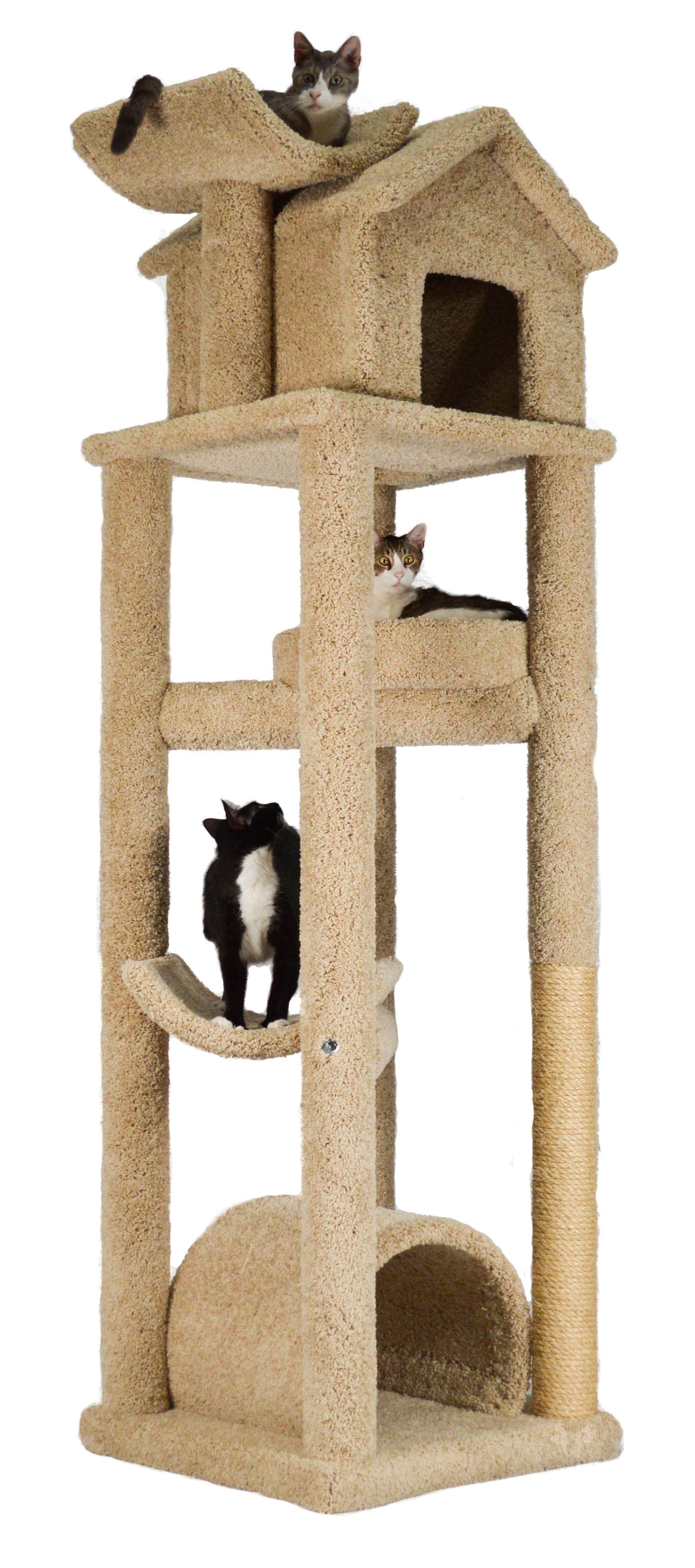 Skyscraper Skyscraper Model Mf 96 Beige Cat Tree Designs Luxury Cat Tree Modern Cat Furniture