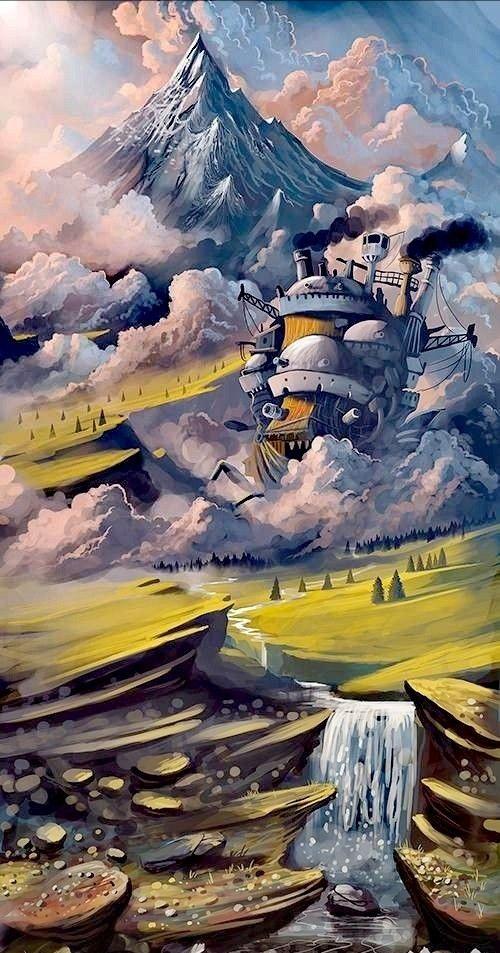 הטירה הנעה של האול Studio ghibli art, Ghibli art, Studio